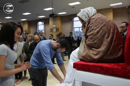 Local dignitaries seeking blessings