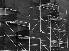 Scaffolding  Abstract B&W