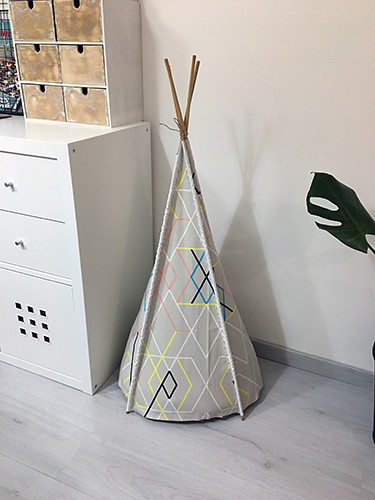 diy tipi mascota decoration home