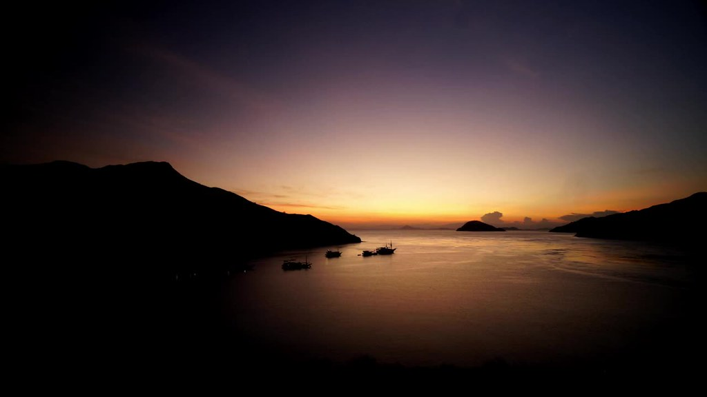 Sunrise at Gili Lawa Darat, Komodo, Flores