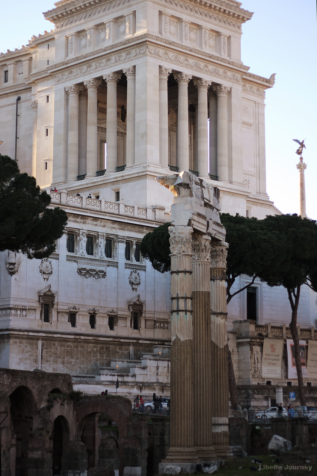 The Temple of Venus Genetrix and Monumento Nazionale a Vittorio Emanuele II