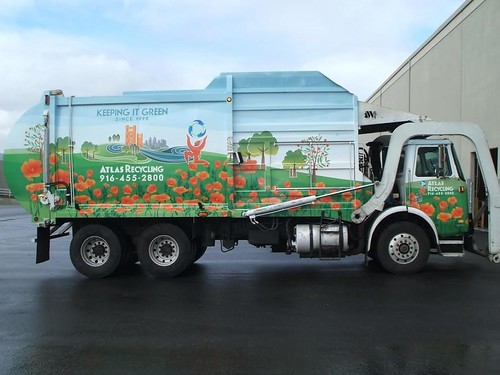 Garbage truck vehicle (branding) wrap