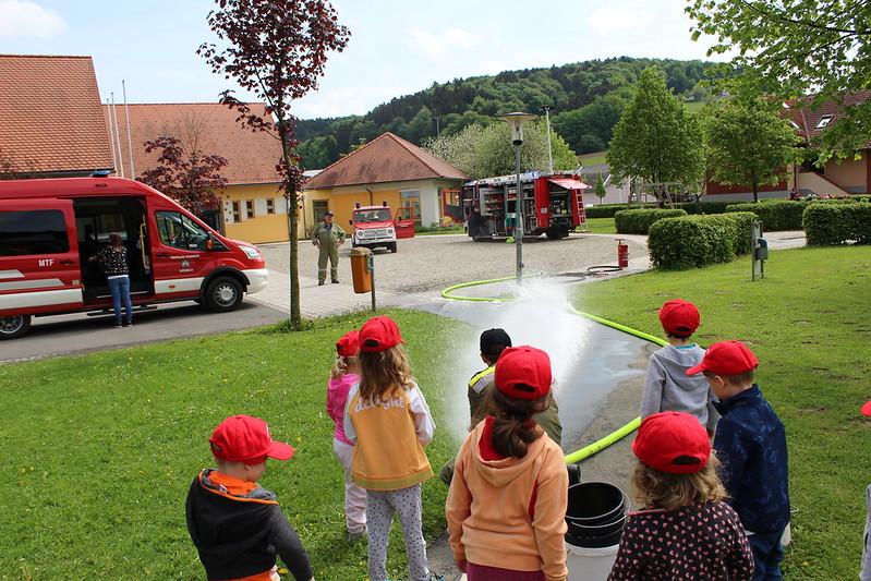 Feuerwehrtag im Kindergarten Auersbach