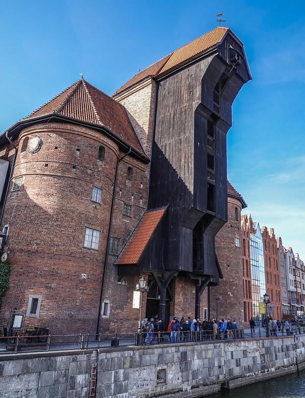 Medieval crane gdansk poland puola