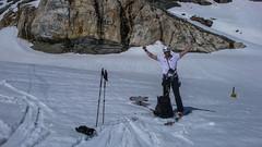 Zjazd ze szczytu Piz Malenco moreną lodowca Vadretta di Scerscen Inferiore. Paweł.