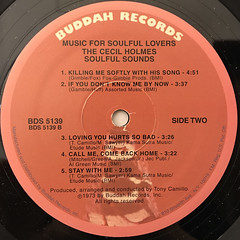 THE CECIL HOLMS SOULFUL SOUNDS:MUSIC FOR SOULFUL LOVERS(LABEL SIDE-B)