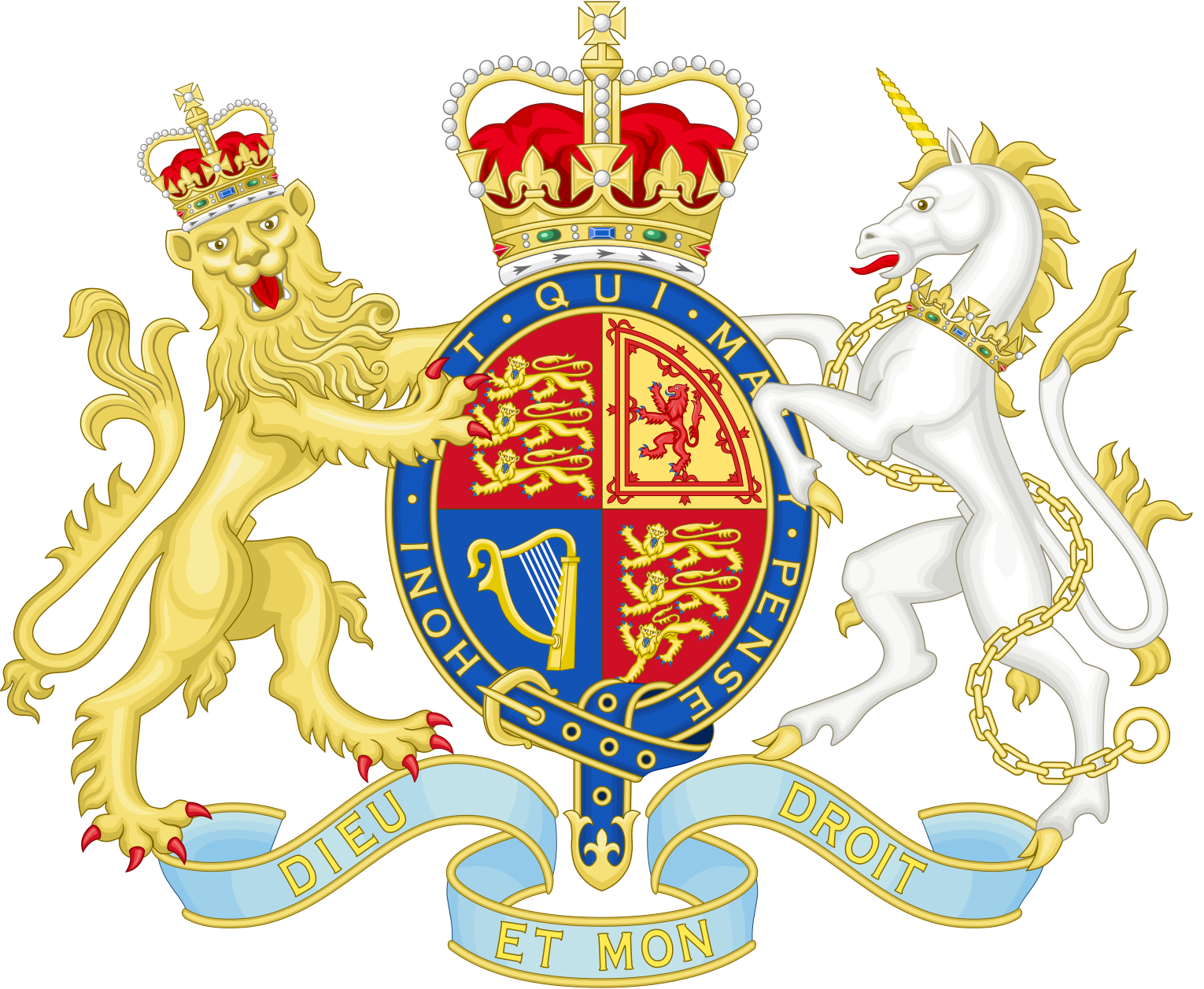 Royal Coat of Arms of the United Kingdom (Her Majesty's Government)