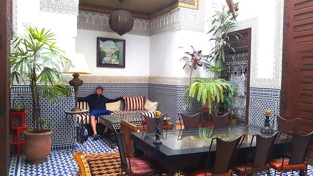 Inside our riad in Fes Medina on our one week in Morocco.