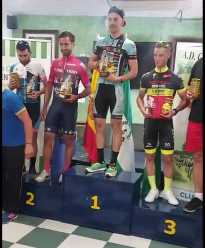 El ciclista Chito Hernández en la II Ciclo Deportiva de Pilas