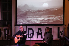 Simon Kerr and Music for a warming world - #StopAdani night of action in Brunswick - IMG_3099