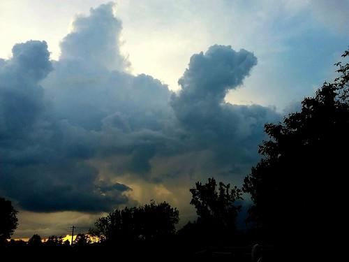 L'orage arrive...