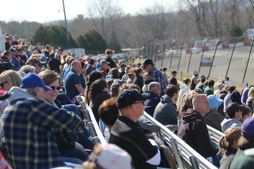 4.22.18 La Crosse Fairgrounds Speedway -  large crowd in grandstands