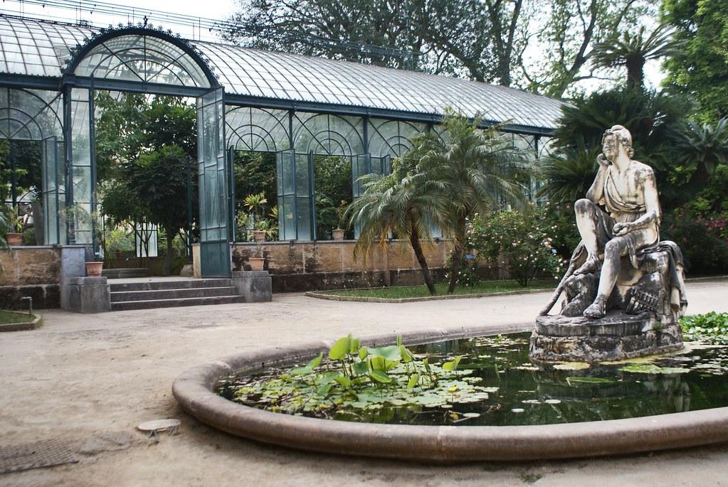 L'une des serres du jardin botanique de Palerme en Sicile.