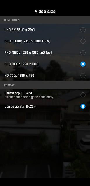 EMUI 8.1 - Video Sizes