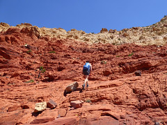 Carrie on the red rock section