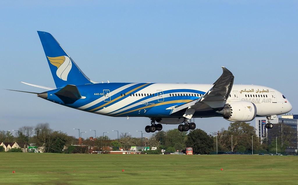 A4O-SB 787-8 Oman Air at Birmingham 01/05/18