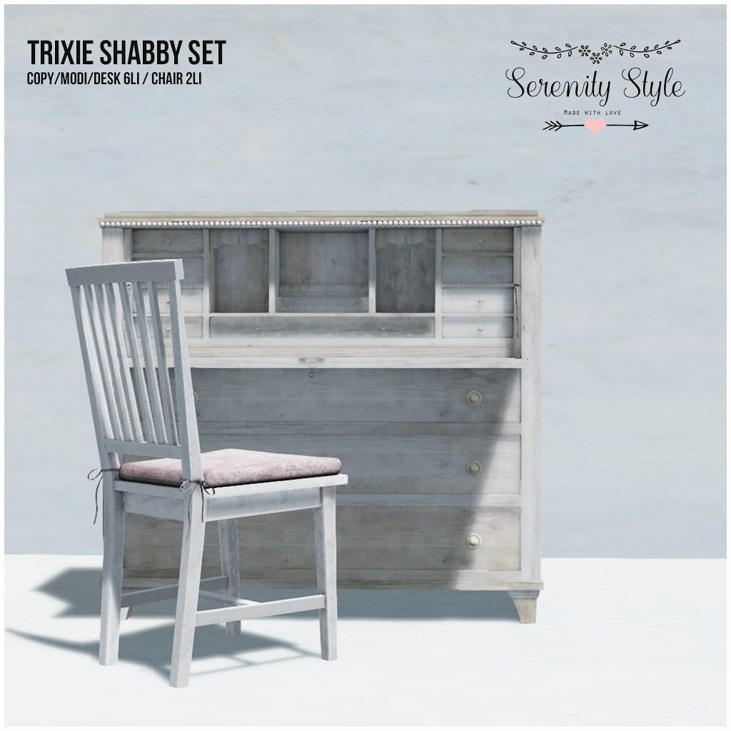 Serenity Style- Trixie Shabby Set - TeleportHub.com Live!