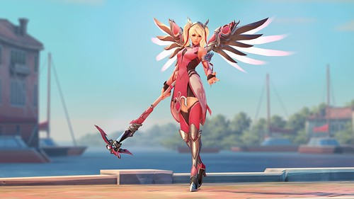 Overwatch Breast Cancer Research Pink Mercy Skin
