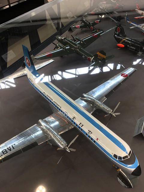 あいち航空ミュージアム 名機百選 YS-11 一式陸攻 四式戦疾風 模型 A7CFB91D-CC81-4A6B-9882-C6BC7D08B8B9