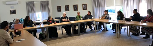 Afternoon session on decolonization with local Iwi educators and North American Indigenous Delegation