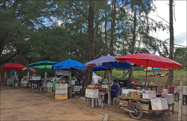 Drink Vendors at Mai Khao Beach, Phuket