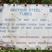 British Steel once Stewarts & Lloyds Steel works:  All thet remaims..