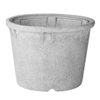 stone finish planter
