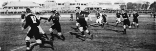 Queensland plays New Zealand at an Intercolonial Rugby Union match in 1907