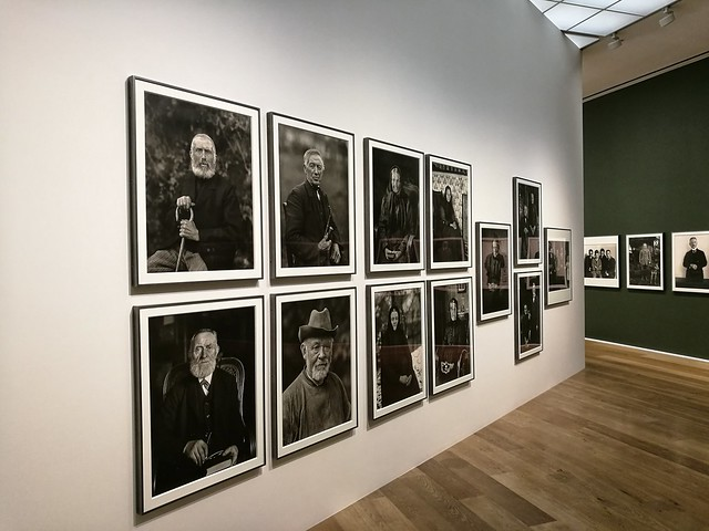 Old photos on the walls of  Hauser and Wirth Gallery
