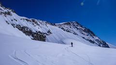 Podejście na szczyt Piz Palu 3900m od lodowca Altipiano di Felleria. Paweł.