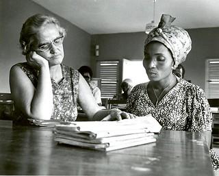 Erma Grove with student Accra Ghana