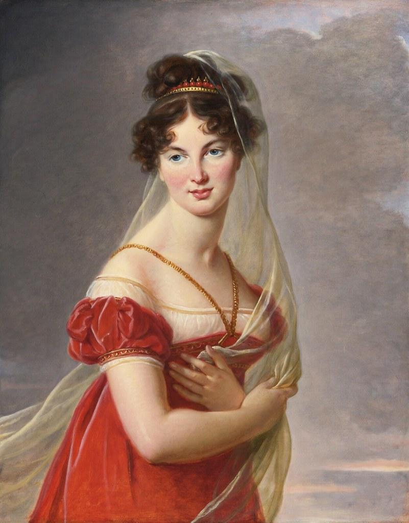 Elisabeth-Louise Vigée-Lebrun - Portrait of Aglaé Angélique Gabrielle (1787-1842)
