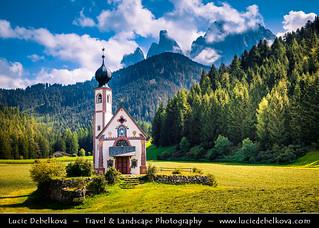 Italy - Alps - Dolomites - Villnöß - Iconic Church of St. John the Baptist