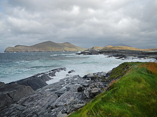 Rocky foreshore and wild weather at Valentia Island on Ireland's Wild Atlantic Way