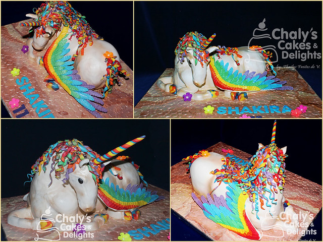 3D Winged Unicorn by Thailys Freites de Valcárcel of Chaly's Cakes and Delights