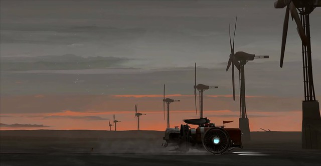 FAR Lone Sails - Windmühlen