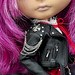 Blythe doll in leather biker jacket by ELENPRIV