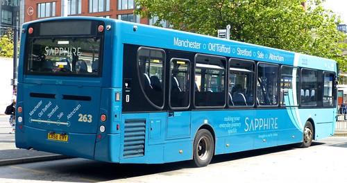 CX58 EVY 'ARRIVA Manchester' No. 2748, 'Sapphire 263'. Alexander Dennis Ltd. (ADL) Enviro 300 / ADL Enviro 300 /2 on 'Dennis Basford's railsroadsrunways.blogspot.co.uk'