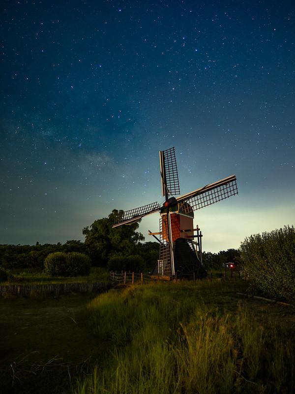 荷蘭村 風車|STC 夜空輕光害濾鏡 Astro Nightscape Filter
