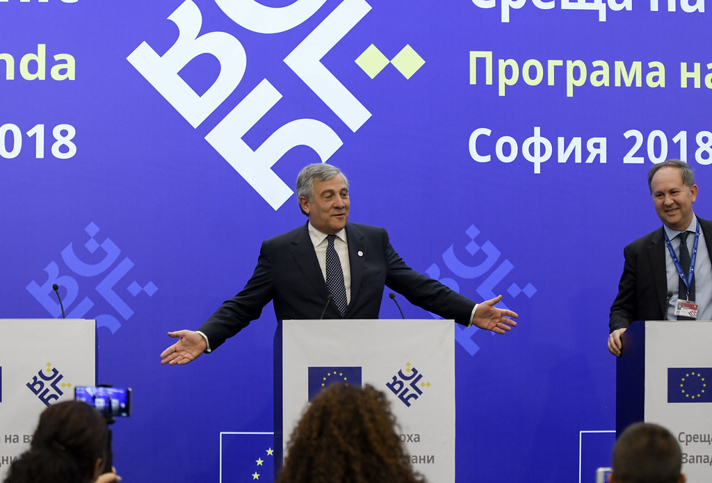 EU - Western Balkans Summit: Press conference by EP President Antonio Tajani