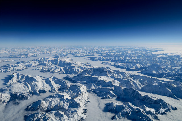 The mighty Alps look stunning from above