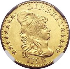 1798 half eagle obverse adjustment marks