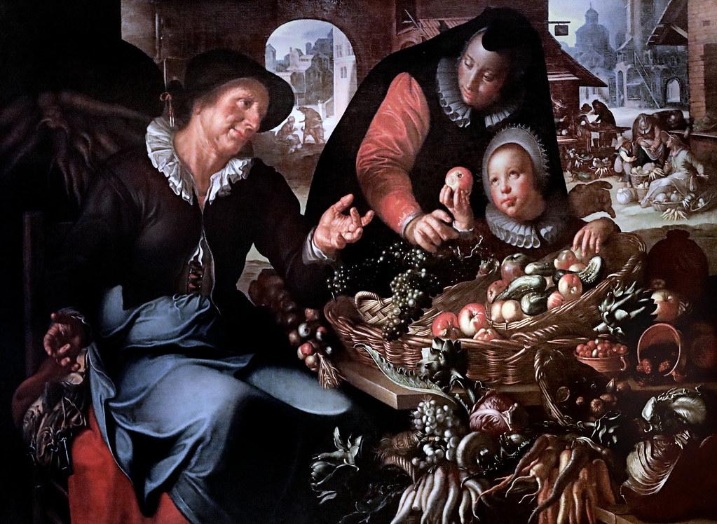 IMG_1125AJoachim Wtewael. 1566-1638. Utrecht  Femme vendant des légumes Woman selling vegetables 1618  Utrecht Centraal Museum