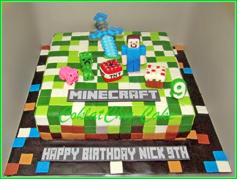 Cake Minecraft NICK 30 cm
