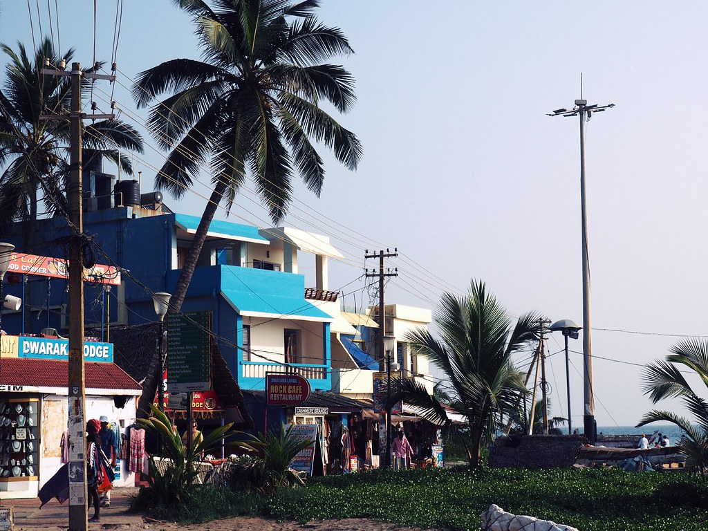 kovalam beach shops palm_effected