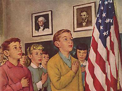 Norman_Rockwell_Pledge_of_Alle