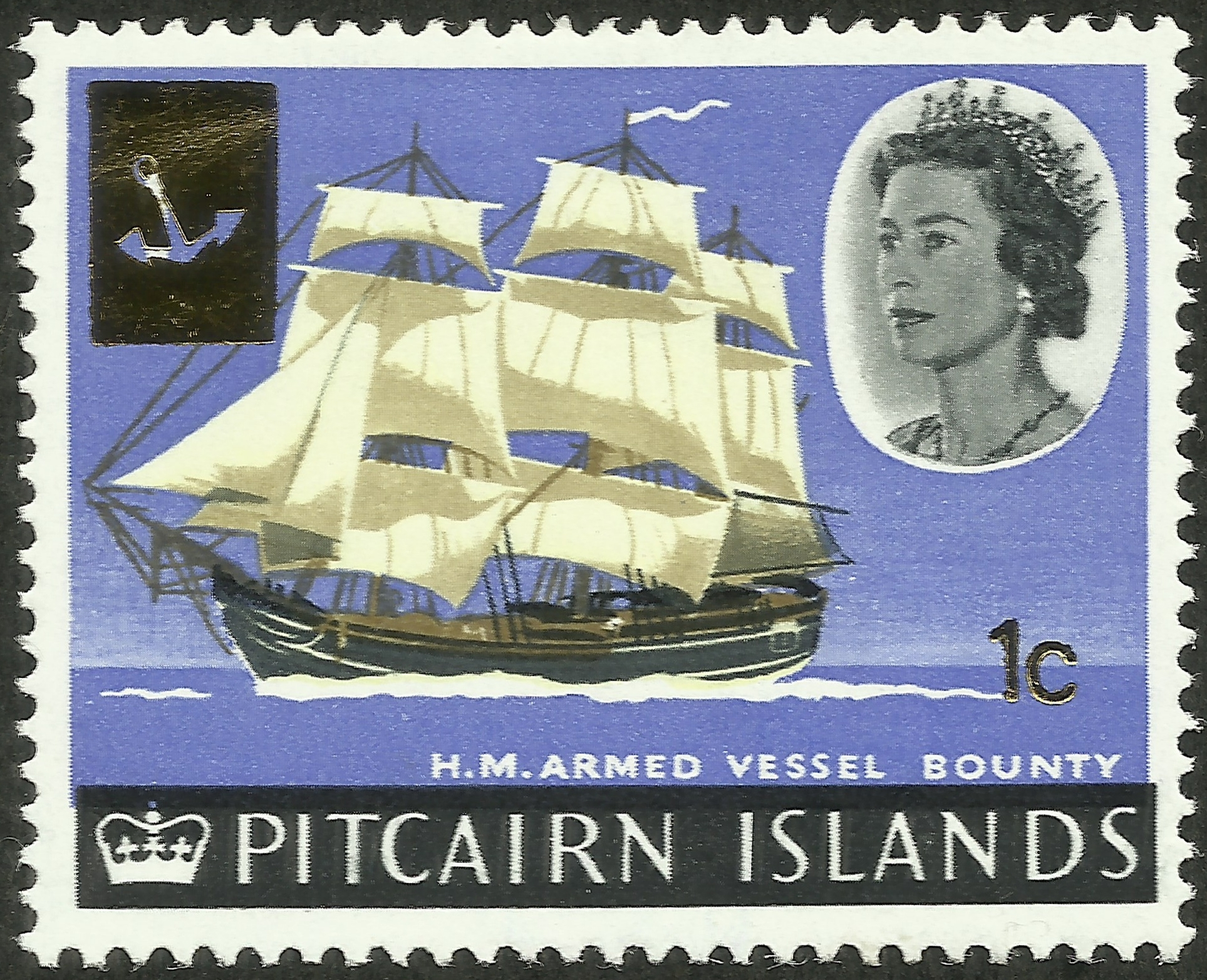 Pitcairn Islands - Scott #73 (1967). HMAV Bounty