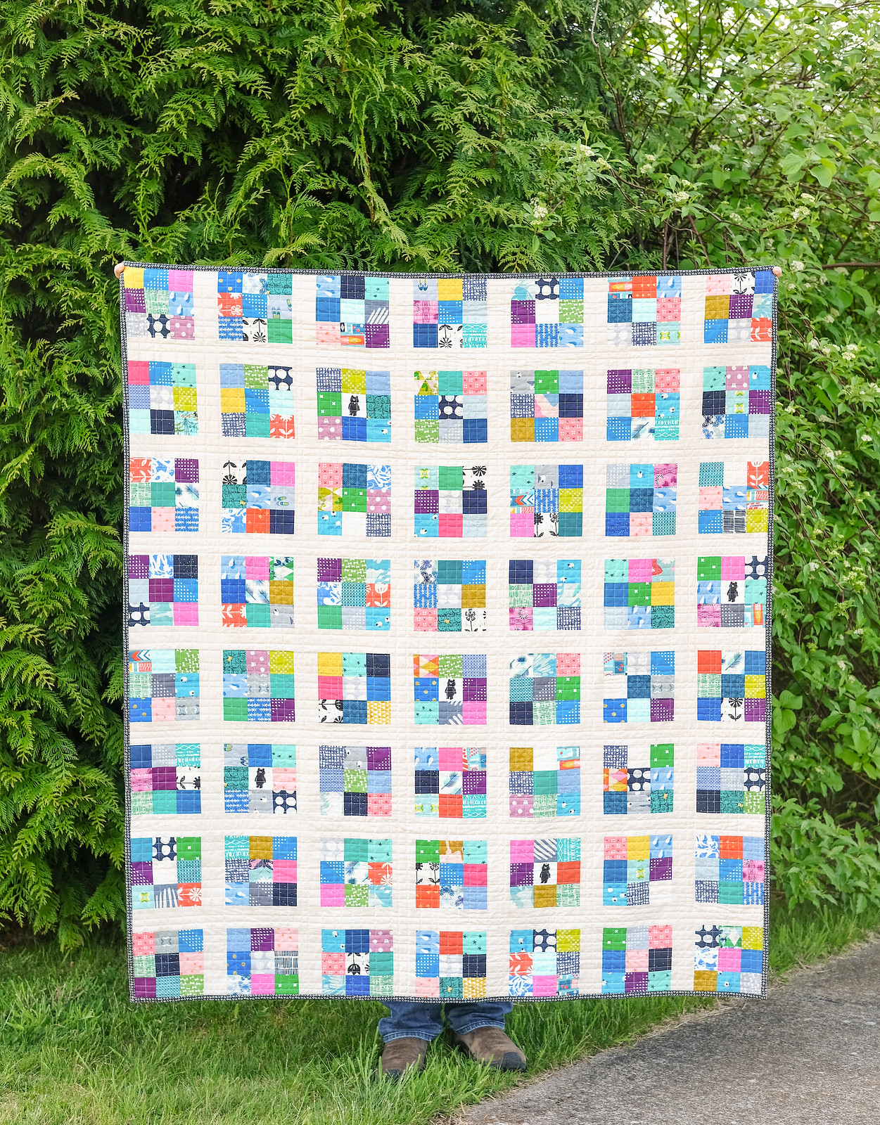 Cotton + Steel Scrappy Modern Postage Stamp Quilt