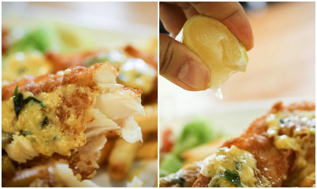 西餐-鱼和柠檬拼贴