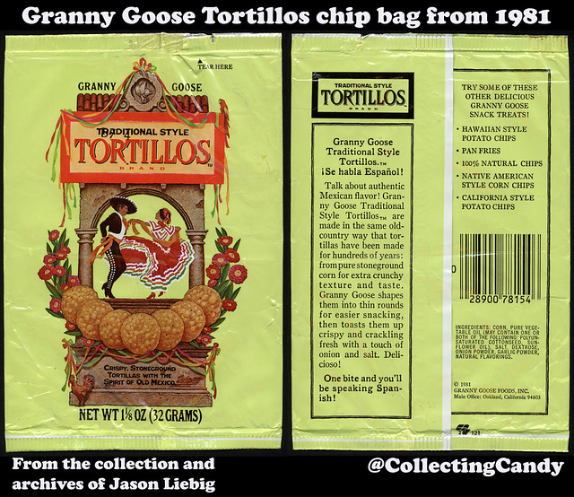 Granny Goose - Tortillos - 1 1_8oz tortilla chip snack bag package - 1981